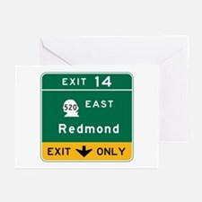Redmond, WA Road Sign Greeting Cards (Pk of 10)