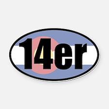Colorado 14ers Oval Car Magnet