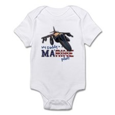 Daddy a Marine Pilot (AV-8B) Infant Bodysuit