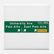Palo Alto, CA Sign Tile Coaster