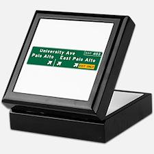 Palo Alto, CA Sign Keepsake Box