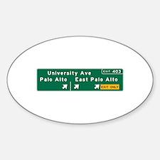 Palo Alto, CA Sign Sticker (Oval)