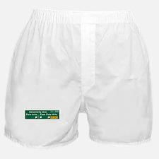 Palo Alto, CA Sign Boxer Shorts