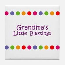 Grandma's Little  Blessings Tile Coaster