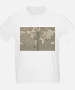 Vintage Map of the World (1820) 2 T-Shirt