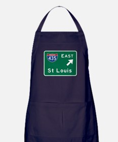St Louis, MO Road Sign Apron (dark)