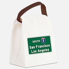 San Francisco/Los Angeles/I-5 Roa Canvas Lunch Bag