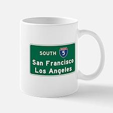 San Francisco/Los Angeles/I-5 Road Sign Mug