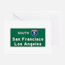 San Francisco/Los Angele Greeting Cards (Pk of 10)