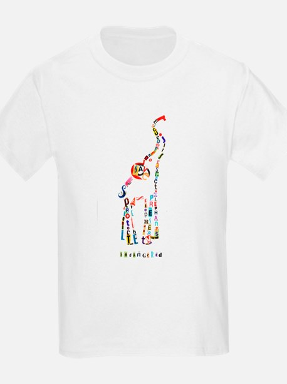 Elephant Typography Kid's T-Shirt