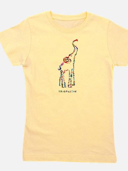 Elephant Typography Girl's Tee
