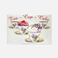 Tea Cupcake Magnets