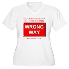 Colonoscopy Wrong Way T-Shirt