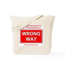 Colonoscopy Wrong Way Tote Bag