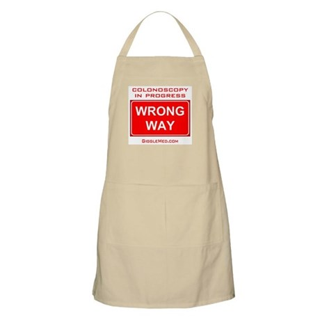 Colonoscopy Wrong Way BBQ Apron