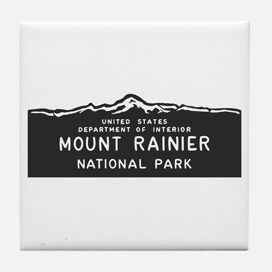 Mount Rainier National Park, Washingt Tile Coaster