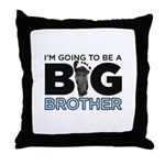 Im Going To Be A Big Brother Throw Pillow
