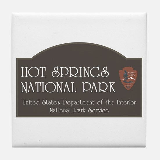 Hot Springs National Park, Arkansas Tile Coaster