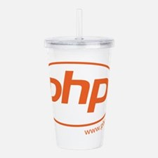 PHP Oval Logo Acrylic Double-wall Tumbler