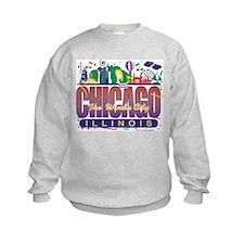 Chicago Confetti  Sweatshirt