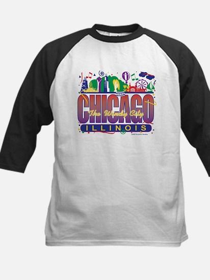Chicago Confetti  Kids Baseball Jersey