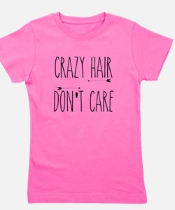 Crazy Hair Don't Care Girl's Tee