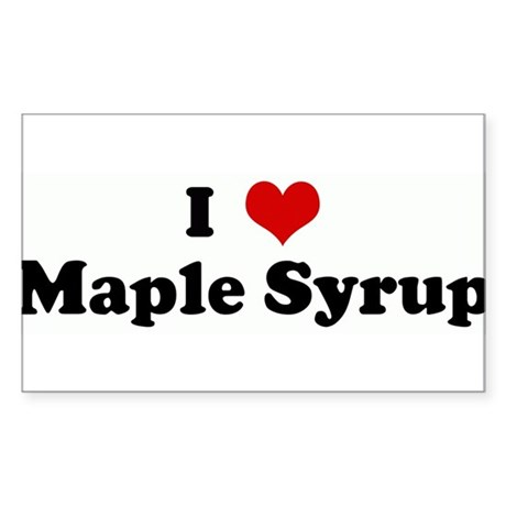 I Love Maple Syrup Rectangle Sticker