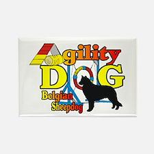Belgian Sheepdog Agilit Rectangle Magnet (10 pack)