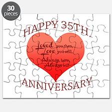 Happy 35th. Anniversary Puzzle