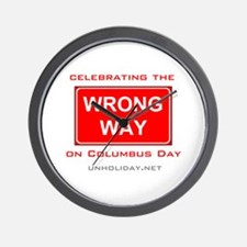 Wrong Way Columbus 01 Wall Clock