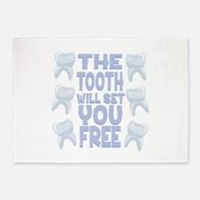 Tooth Set You Free 5'x7'Area Rug