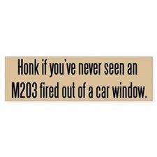 Tacticool Tan Honk M203 Bumper Sticker