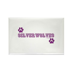 SILVERWOLVES Rectangle Magnet (100 pack)