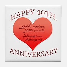 30th wedding anniversary Tile Coaster