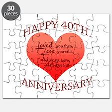 Happy 40th. Anniversary Puzzle