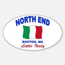 North End Boston,MA Oval Decal