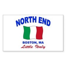 North End Boston,MA Rectangle Decal