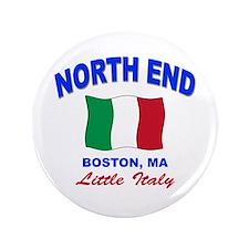 """North End Boston,MA 3.5"""" Button"""