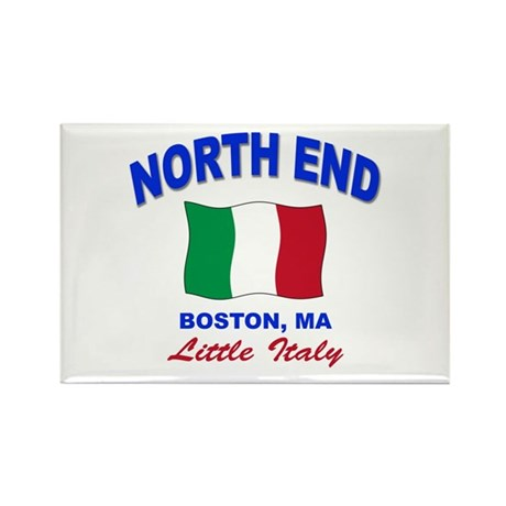 North End Boston,MA Rectangle Magnet