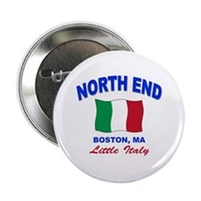 "North End Boston,MA 2.25"" Button"