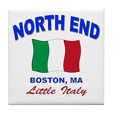 North End Boston,MA Tile Coaster