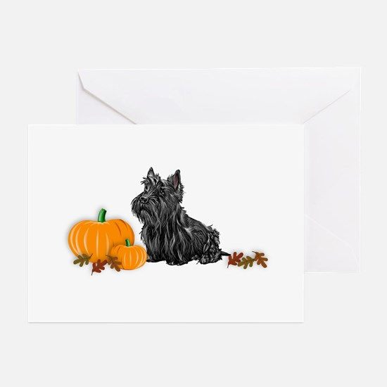 Scottish Terrier Halloween Greeting Cards (Package