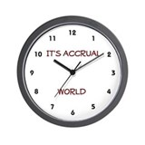 Accounting clock Wall Clocks