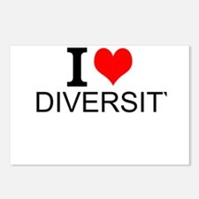 I Love Diversity Postcards (Package of 8)