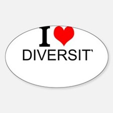 I Love Diversity Decal