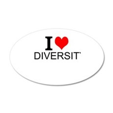 I Love Diversity Wall Decal