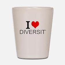 I Love Diversity Shot Glass