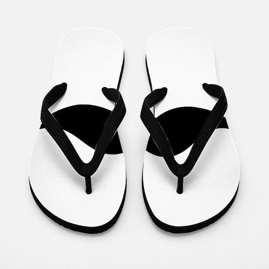 Moustache Flip Flops