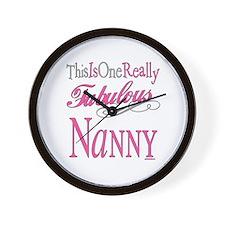 Fabulous Nanny Wall Clock