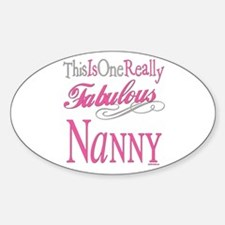 Fabulous Nanny Oval Decal